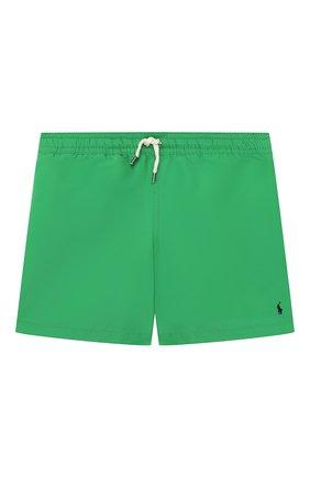 Детские плавки-шорты POLO RALPH LAUREN зеленого цвета, арт. 323785582 | Фото 1