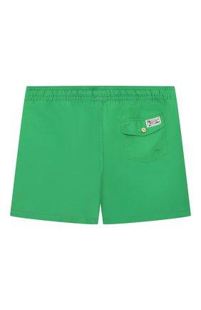 Детские плавки-шорты POLO RALPH LAUREN зеленого цвета, арт. 323785582 | Фото 2