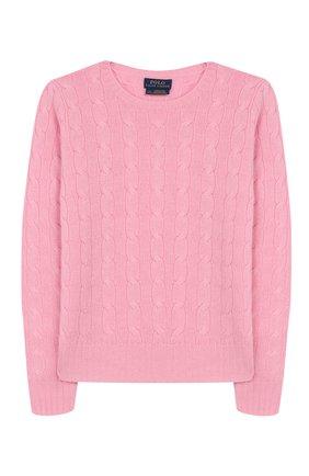 Детский кашемировый пуловер POLO RALPH LAUREN розового цвета, арт. 313562294 | Фото 1