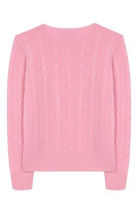 Детский кашемировый пуловер POLO RALPH LAUREN розового цвета, арт. 313562294 | Фото 2