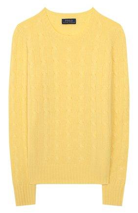 Детский кашемировый пуловер POLO RALPH LAUREN желтого цвета, арт. 313562294 | Фото 1
