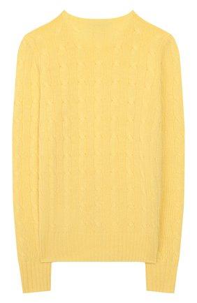 Детский кашемировый пуловер POLO RALPH LAUREN желтого цвета, арт. 313562294 | Фото 2