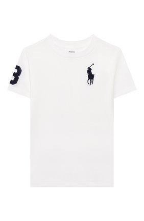 Детская хлопковая футболка POLO RALPH LAUREN белого цвета, арт. 321770177 | Фото 1