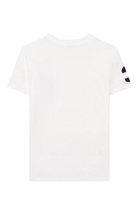 Детская хлопковая футболка POLO RALPH LAUREN белого цвета, арт. 321770177 | Фото 2