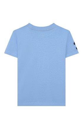 Детская хлопковая футболка POLO RALPH LAUREN голубого цвета, арт. 321770177 | Фото 2