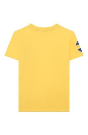 Детская хлопковая футболка POLO RALPH LAUREN желтого цвета, арт. 322770177 | Фото 2