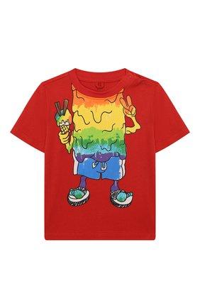 Детский хлопковая футболка STELLA MCCARTNEY красного цвета, арт. 588361/S0JG3 | Фото 1
