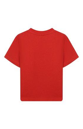 Детский хлопковая футболка STELLA MCCARTNEY красного цвета, арт. 588361/S0JG3 | Фото 2