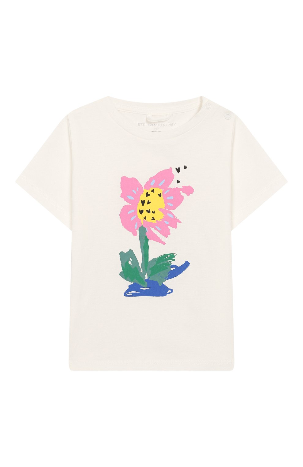 Детский хлопковая футболка STELLA MCCARTNEY белого цвета, арт. 588428/S0J07 | Фото 1