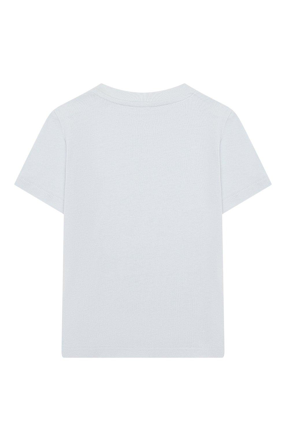 Детский хлопковая футболка STELLA MCCARTNEY голубого цвета, арт. 588428/S0J78   Фото 2
