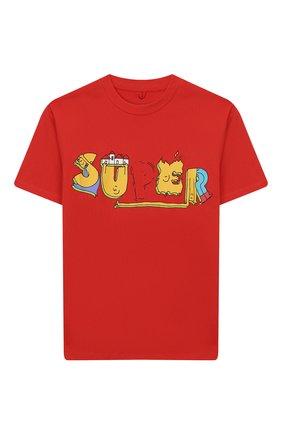 Детская хлопковая футболка STELLA MCCARTNEY красного цвета, арт. 588492/S0JF5 | Фото 1