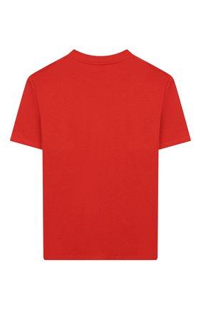 Детская хлопковая футболка STELLA MCCARTNEY красного цвета, арт. 588492/S0JF5 | Фото 2