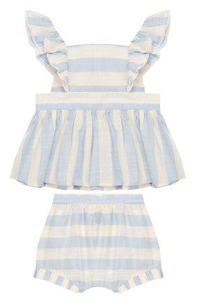 Детский комплект из топа и шорт TARTINE ET CHOCOLAT голубого цвета, арт. TQ37001/1M-1A | Фото 1