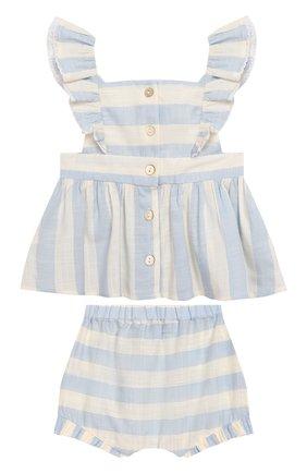 Детский комплект из топа и шорт TARTINE ET CHOCOLAT голубого цвета, арт. TQ37001/1M-1A | Фото 2