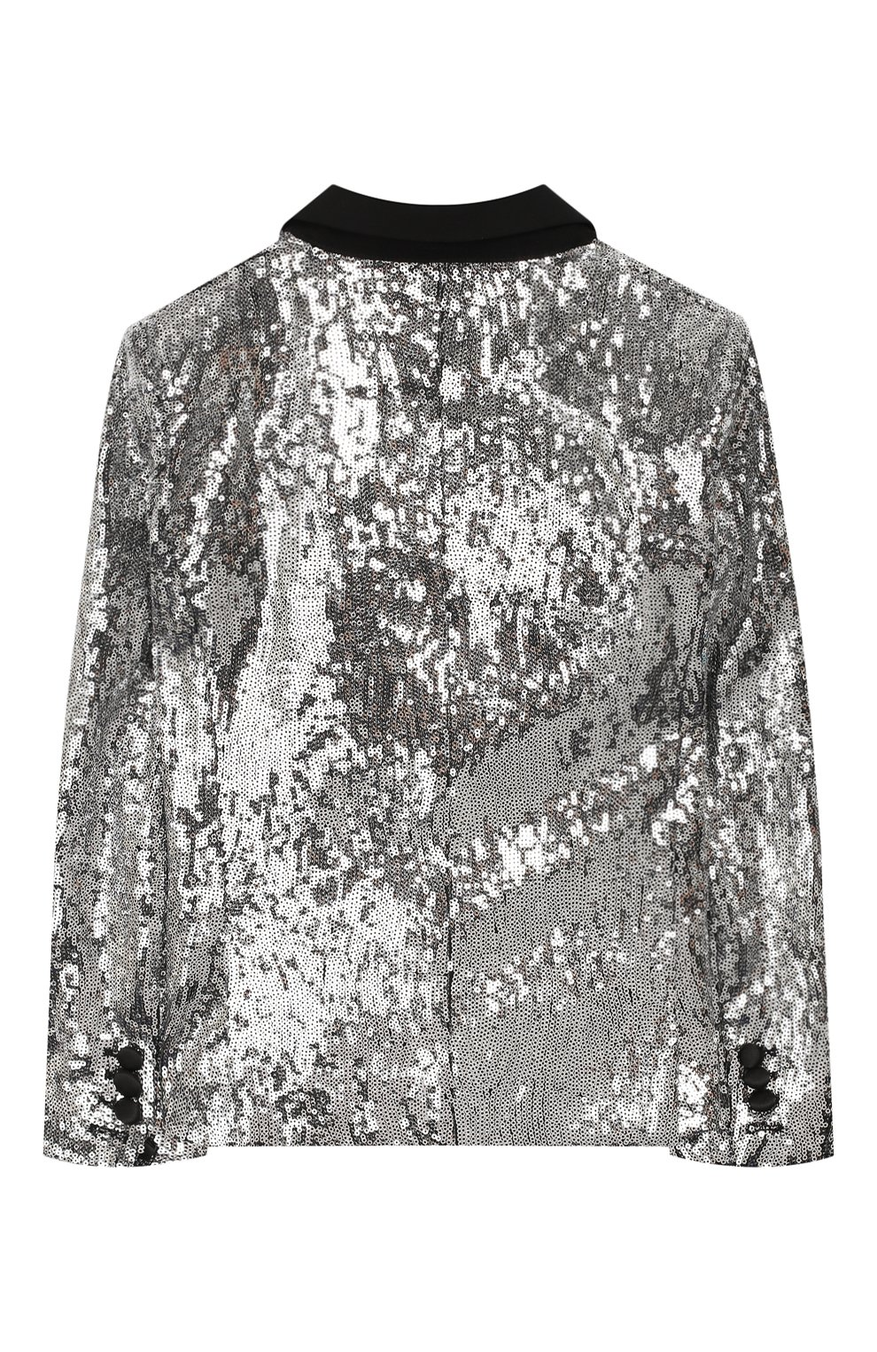 Детский жакет DSQUARED2 серебряного цвета, арт. DQ042M-D00WW | Фото 2