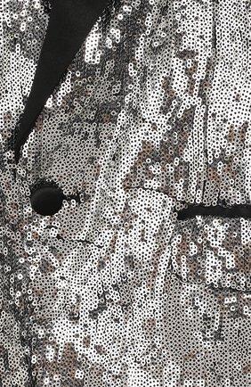 Детский жакет DSQUARED2 серебряного цвета, арт. DQ042M-D00WW | Фото 3