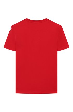 Детская хлопковая футболка DSQUARED2 красного цвета, арт. DQ03WA-D00W5 | Фото 2