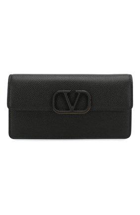 Женские кожаный кошелек valentino garavani на цепочке VALENTINO черного цвета, арт. TW2P0S93/RQR | Фото 1