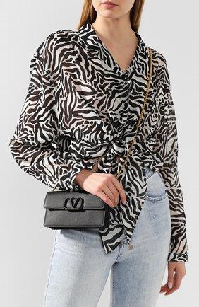 Женские кожаный кошелек valentino garavani на цепочке VALENTINO черного цвета, арт. TW2P0S93/RQR | Фото 2