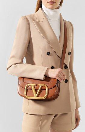Женская сумка valentino garavani supervee VALENTINO коричневого цвета, арт. TW2B0G09/ZXL | Фото 2