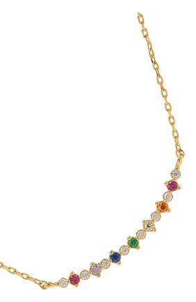 Женское колье bar diamond rainbow GIRLS CREW разноцветного цвета, арт. N109-G   Фото 2