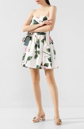 Женские кожаные мюли keira DOLCE & GABBANA светло-бежевого цвета, арт. CR0901/AX191 | Фото 2