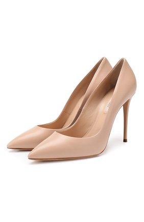 Женская кожаные туфли julia CASADEI бежевого цвета, арт. 1F121D1001MIN0R2801 | Фото 1