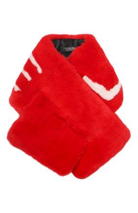 Мужские шарф из меха кролика YVES SALOMON красного цвета, арт. 20EAA100XXREXX | Фото 1