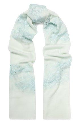 Женская шерстяная шаль VINTAGE SHADES голубого цвета, арт. 13844B | Фото 1