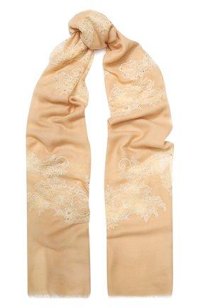 Женская шерстяная шаль VINTAGE SHADES бежевого цвета, арт. 13844B | Фото 1