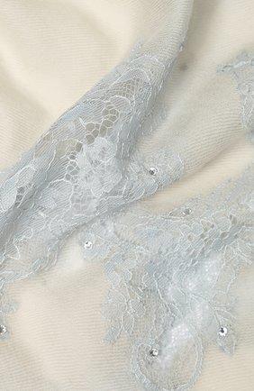 Женская шерстяная шаль VINTAGE SHADES светло-серого цвета, арт. 13844B | Фото 2