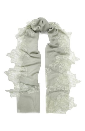 Женская шерстяная шаль VINTAGE SHADES светло-зеленого цвета, арт. 13873B | Фото 1