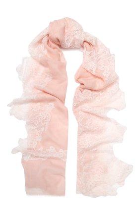 Женская шерстяная шаль VINTAGE SHADES розового цвета, арт. 13873B | Фото 1