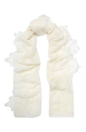 Женская шерстяная шаль VINTAGE SHADES белого цвета, арт. 13873B | Фото 1