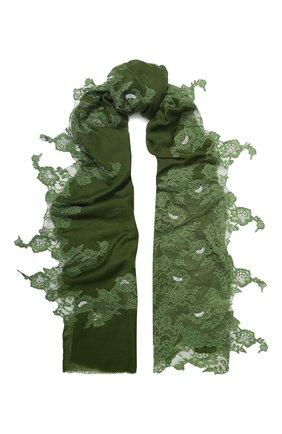 Женская шерстяная шаль VINTAGE SHADES зеленого цвета, арт. 13873G | Фото 1