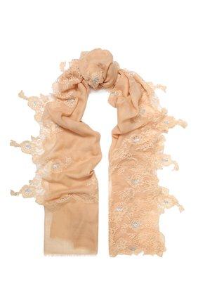Женская шерстяная шаль VINTAGE SHADES бежевого цвета, арт. 13873G   Фото 1
