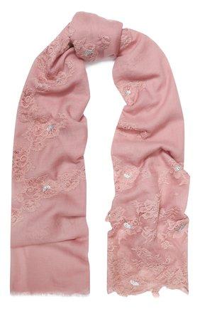 Женская шерстяная шаль VINTAGE SHADES розового цвета, арт. 13873G | Фото 1
