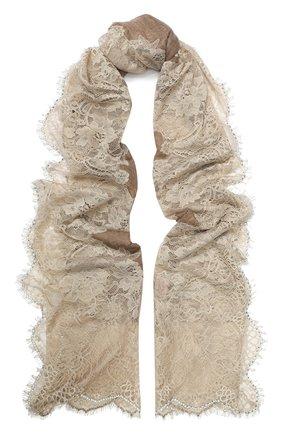 Женская кашемировая шаль VINTAGE SHADES бежевого цвета, арт. 13878 | Фото 1