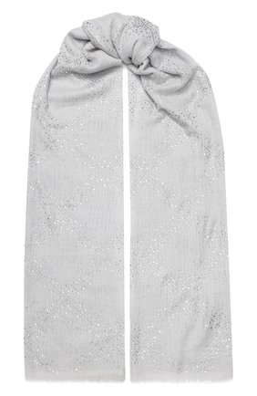Женская кашемировая шаль VINTAGE SHADES светло-серого цвета, арт. 13891 | Фото 1