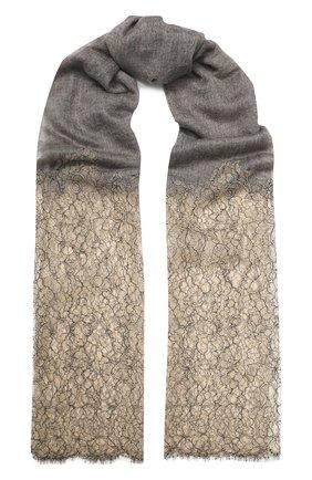 Женская кашемировая шаль VINTAGE SHADES светло-серого цвета, арт. 13900 | Фото 1