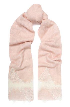 Женская кашемировая шаль VINTAGE SHADES розового цвета, арт. 13940 | Фото 1