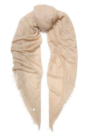 Женский кашемировый платок VINTAGE SHADES темно-бежевого цвета, арт. 13941 | Фото 1