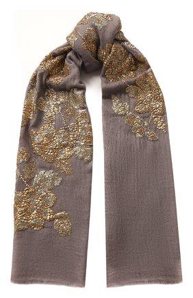 Женская кашемировая шаль VINTAGE SHADES светло-серого цвета, арт. 13945 | Фото 1