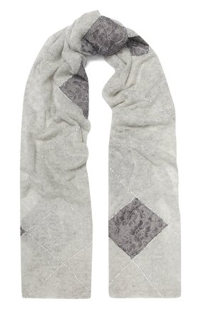 Женская кашемировая шаль VINTAGE SHADES светло-серого цвета, арт. 13949 | Фото 1