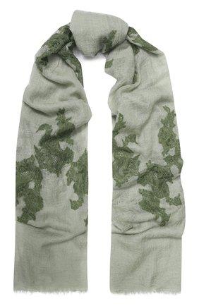 Женская кашемировая шаль VINTAGE SHADES светло-зеленого цвета, арт. 13953 | Фото 1