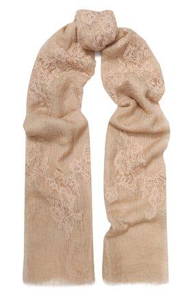Женская кашемировая шаль VINTAGE SHADES темно-бежевого цвета, арт. 13955   Фото 1