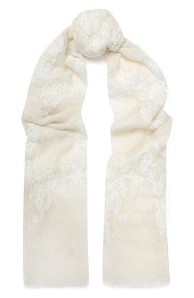 Женская кашемировая шаль VINTAGE SHADES белого цвета, арт. 13955 | Фото 1