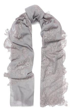 Женская шерстяная шаль VINTAGE SHADES серого цвета, арт. 32195Z | Фото 1