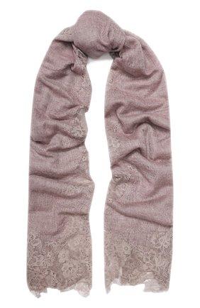 Женская кашемировая шаль VINTAGE SHADES розового цвета, арт. 3519/13873H | Фото 1