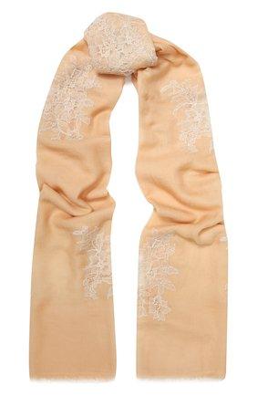 Женская шерстяная шаль VINTAGE SHADES бежевого цвета, арт. 8998 | Фото 1